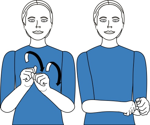 sign language for award