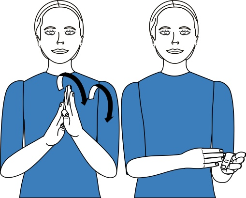 sign language for bestow