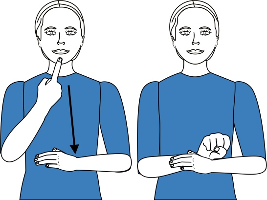 sign language for swear option 1